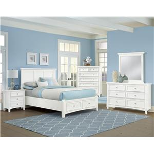 Vaughan Bassett Bonanza Twin Sleigh Bed with Low Profile Footboard