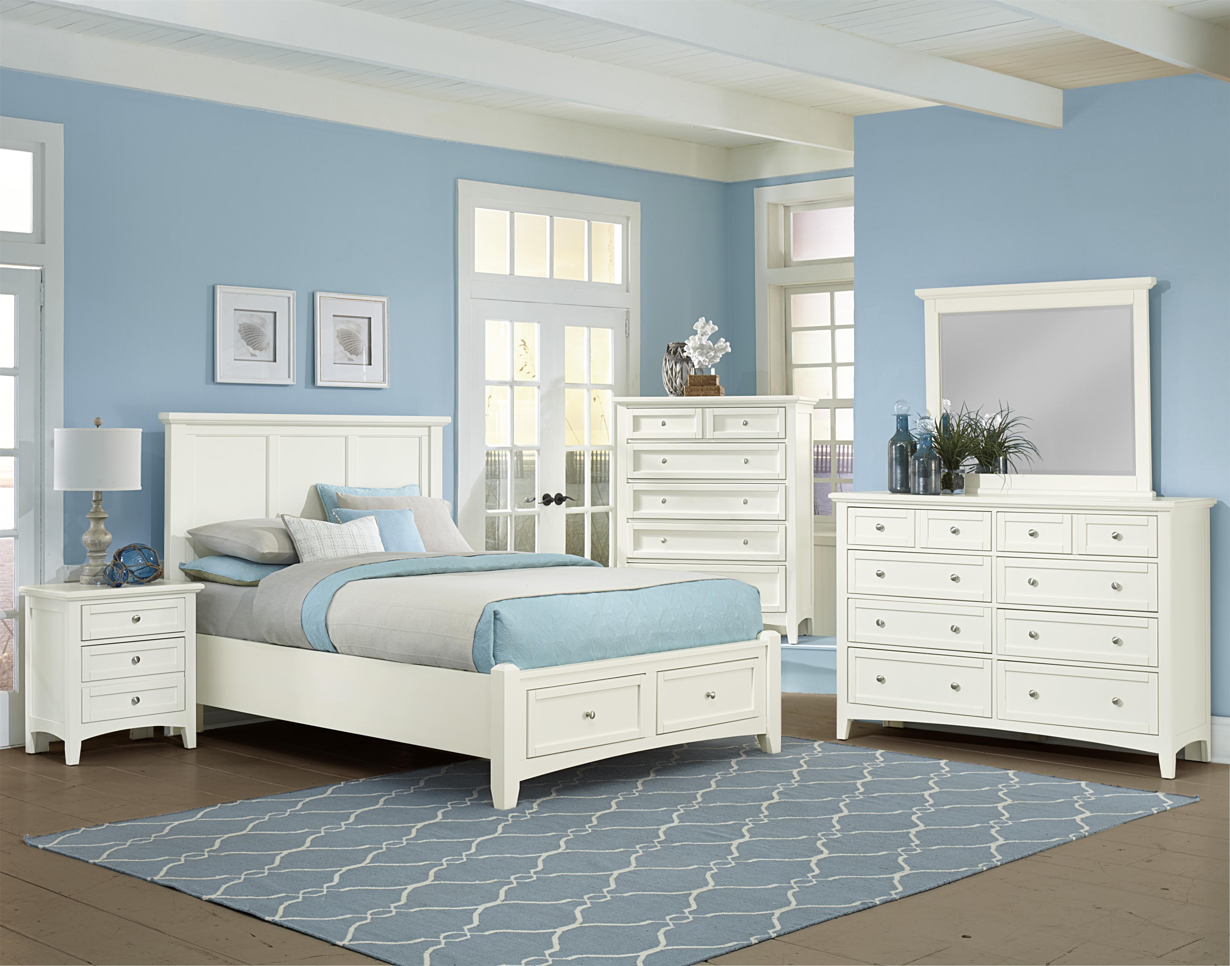 Vaughan Bassett Bonanza Queen Mansion Storage Bed with 2 Drawers ...