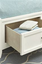 Footboard Drawers Available in Select Bed Sizes