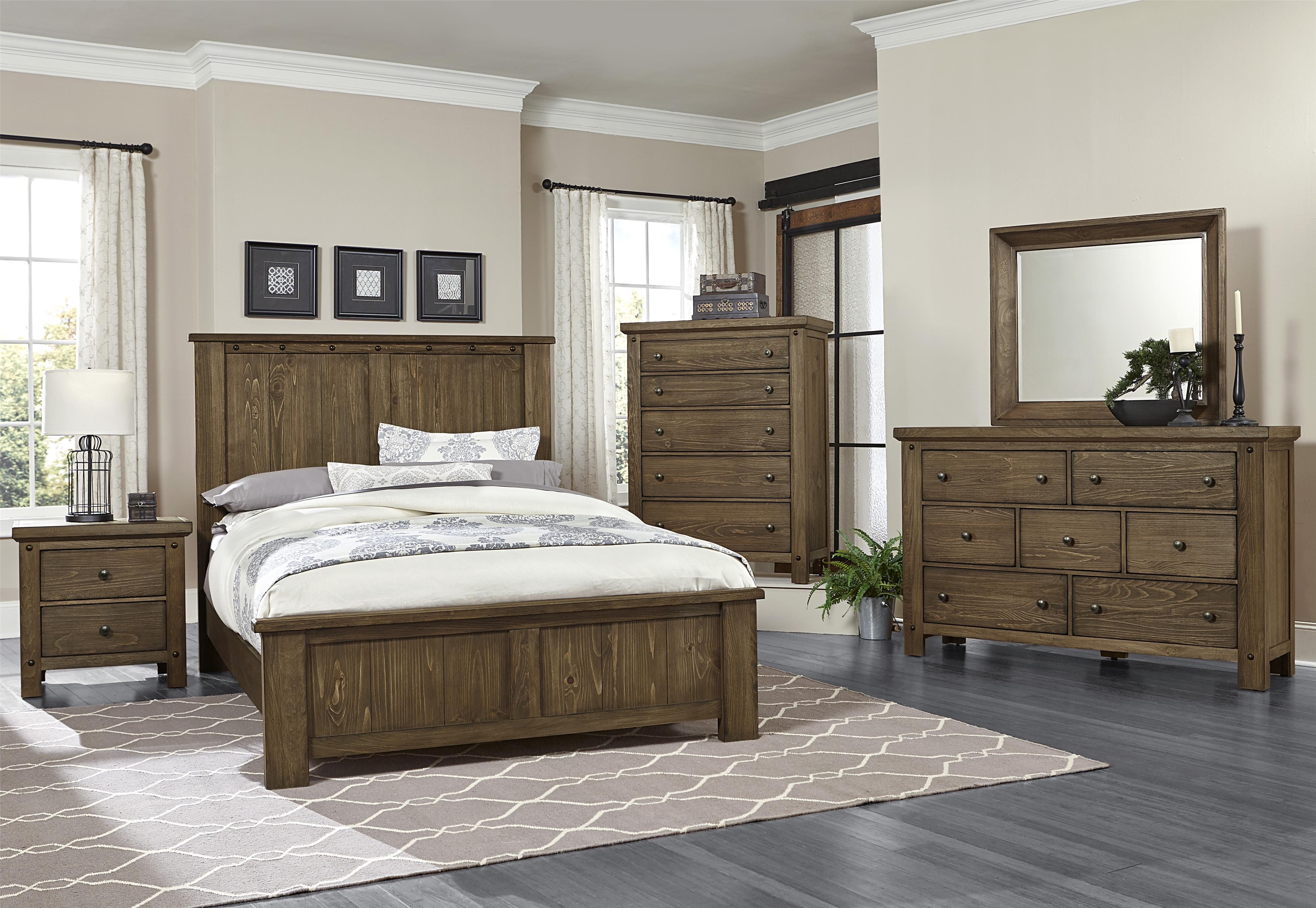 Vaughan Bassett Collaboration Queen Bedroom Group - Item Number: 610 Q Bedroom Group 1