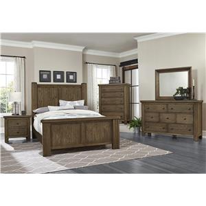 Vaughan Bassett Collaboration Rustic Queen Poster Bed