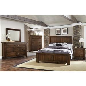 Vaughan Bassett Collaboration Rustic Queen Panel Bed