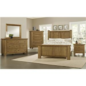 Vaughan Bassett Collaboration Rustic King Panel Bed