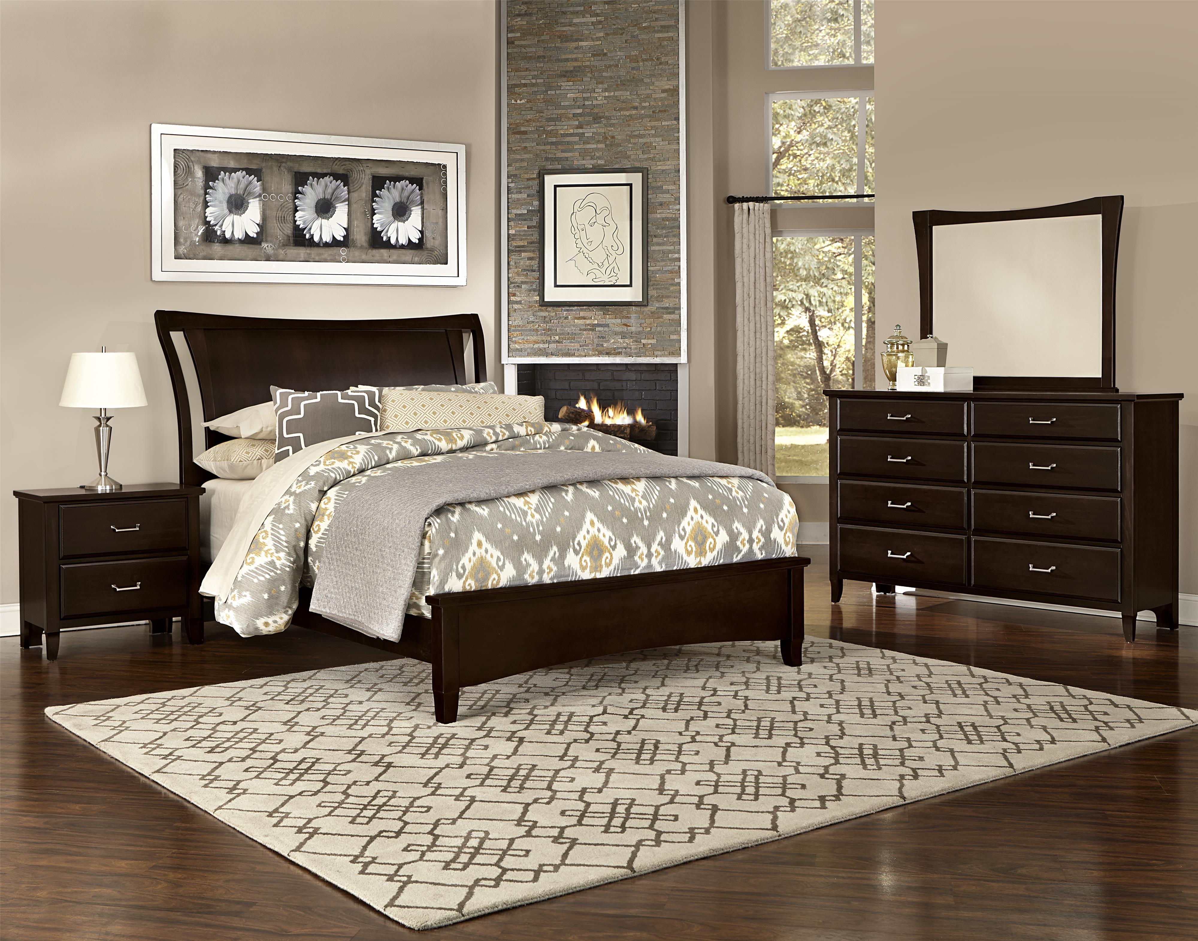 Vaughan Bassett Commentary King Bedroom Group - Item Number: 390 K Bedroom Group 1