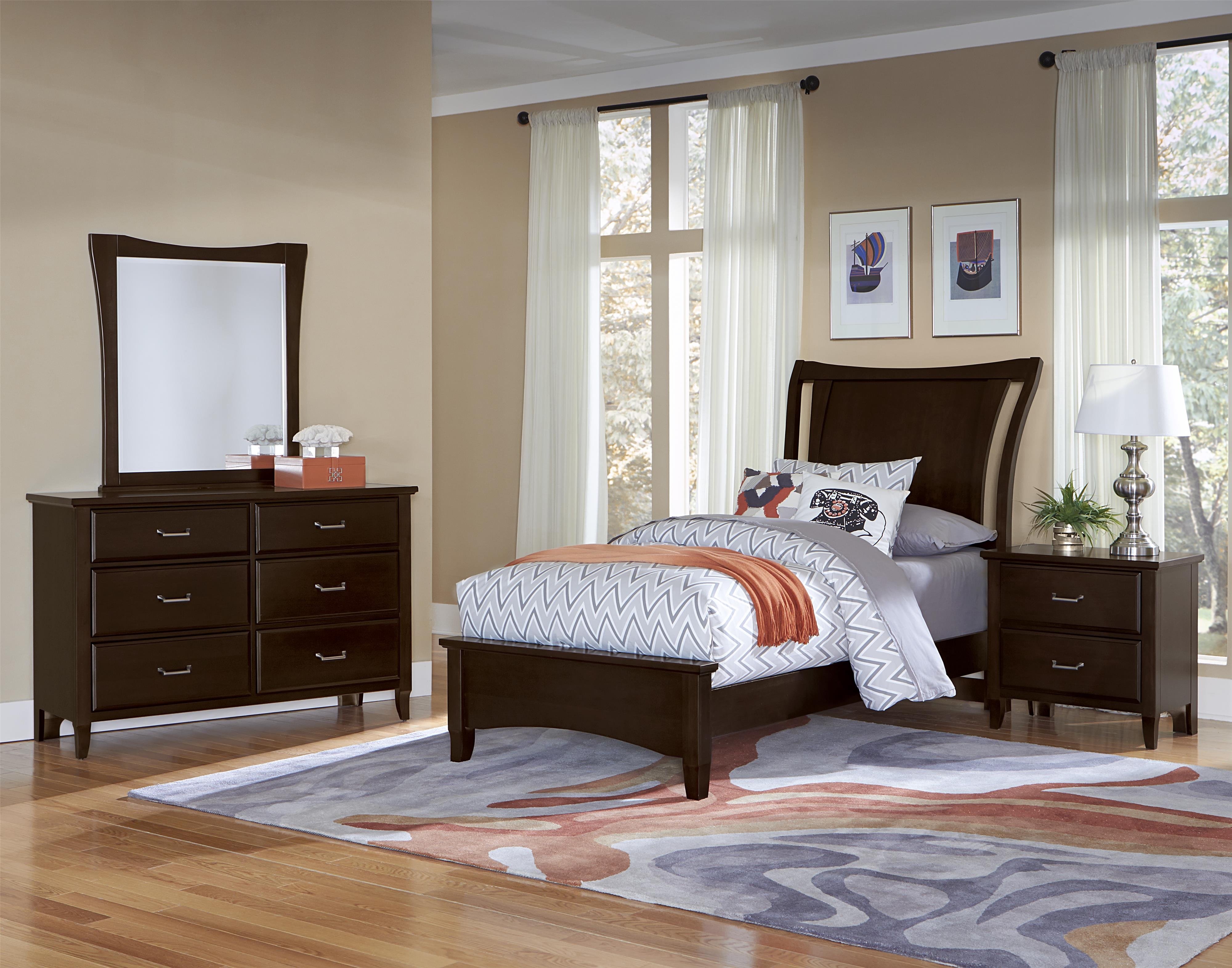 Vaughan Bassett Commentary Twin Bedroom Group - Item Number: 390 T Bedroom Group 1