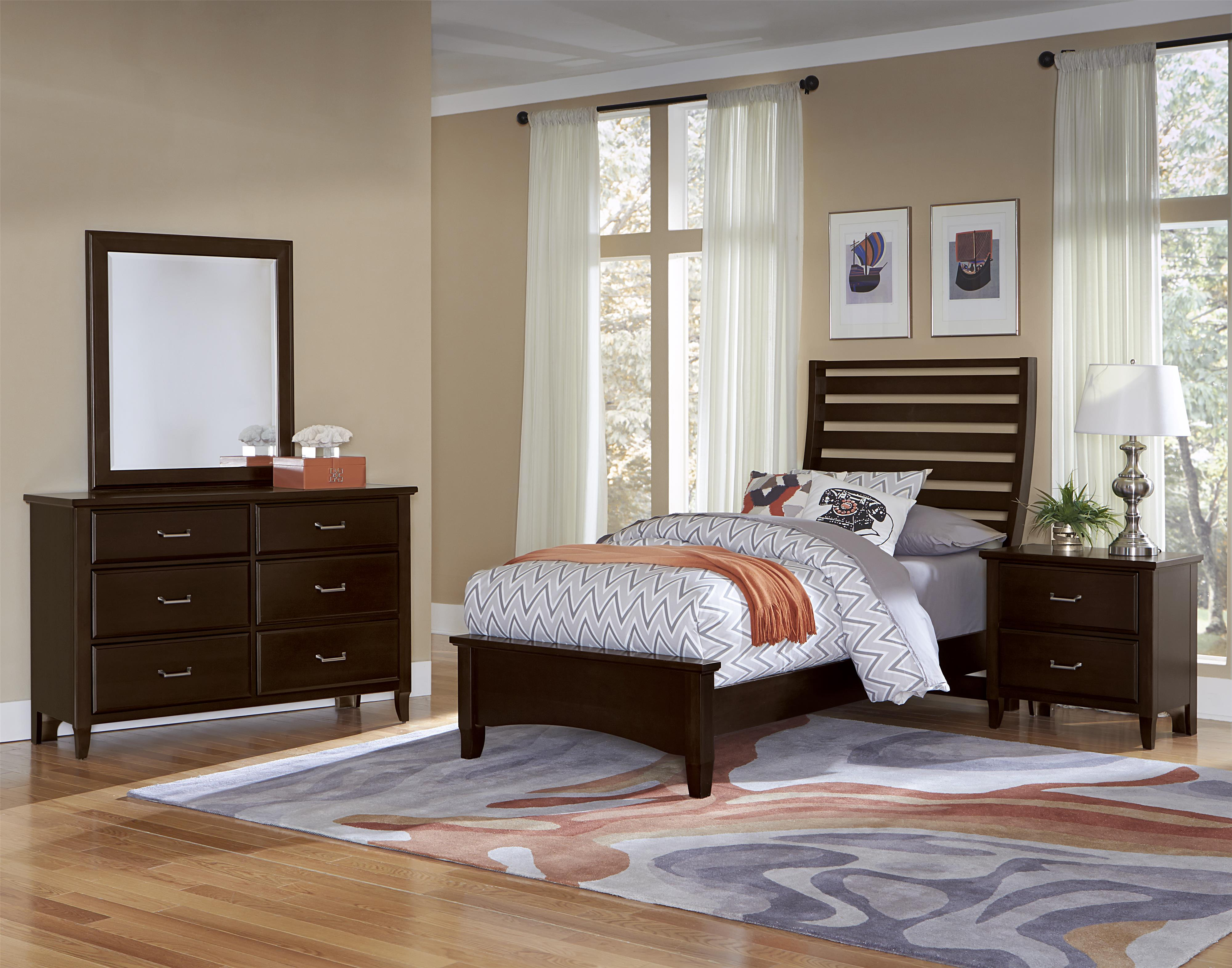 Vaughan Bassett Commentary Twin Bedroom Group - Item Number: 390 T Bedroom Group 2