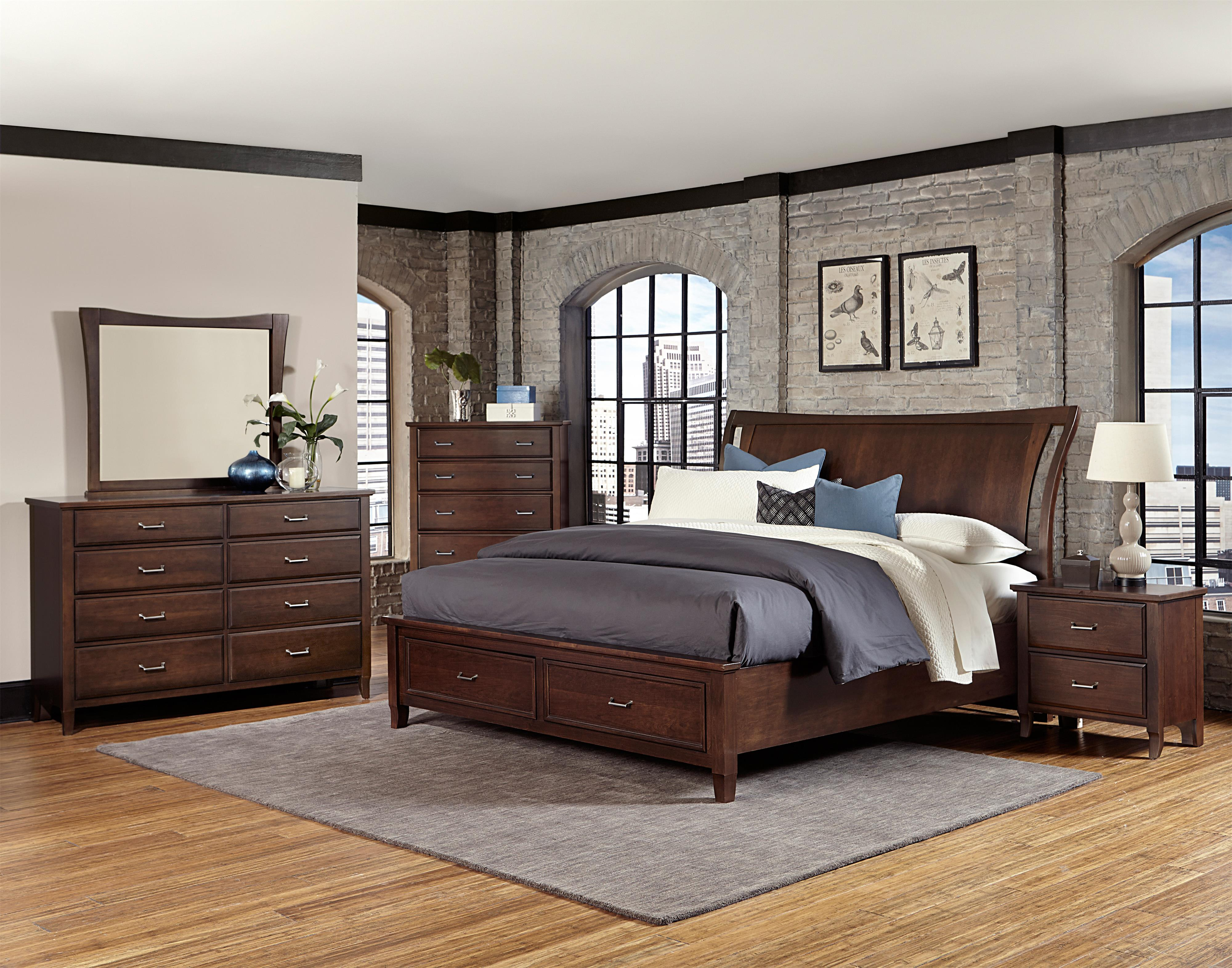 Vaughan Bassett Commentary Queen Bedroom Group - Item Number: 392 Q Bedroom Group 11