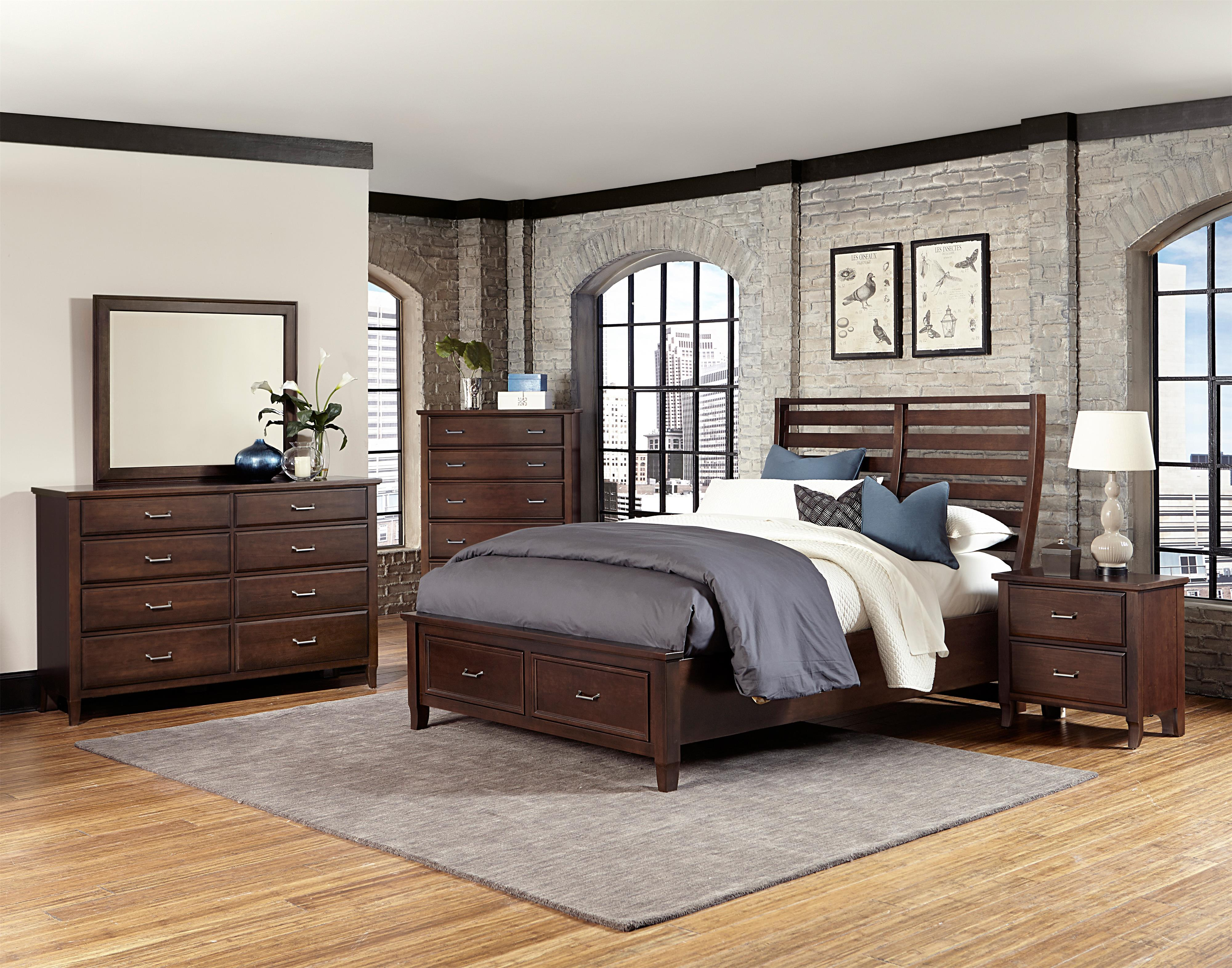 Vaughan Bassett Commentary Queen Bedroom Group - Item Number: 392 Q Bedroom Group 12
