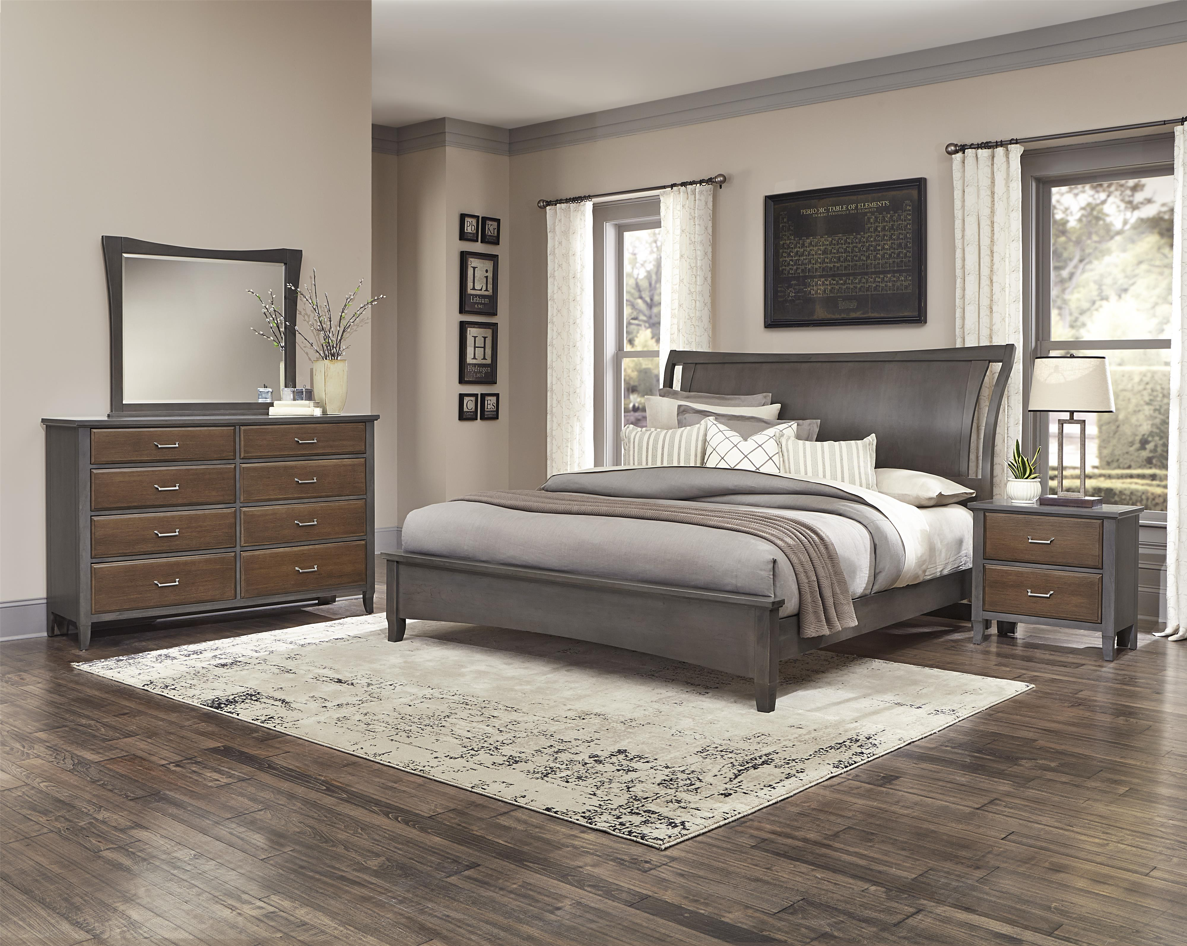 Vaughan Bassett Commentary Queen Bedroom Group - Item Number: 394 Q Bedroom Group 5
