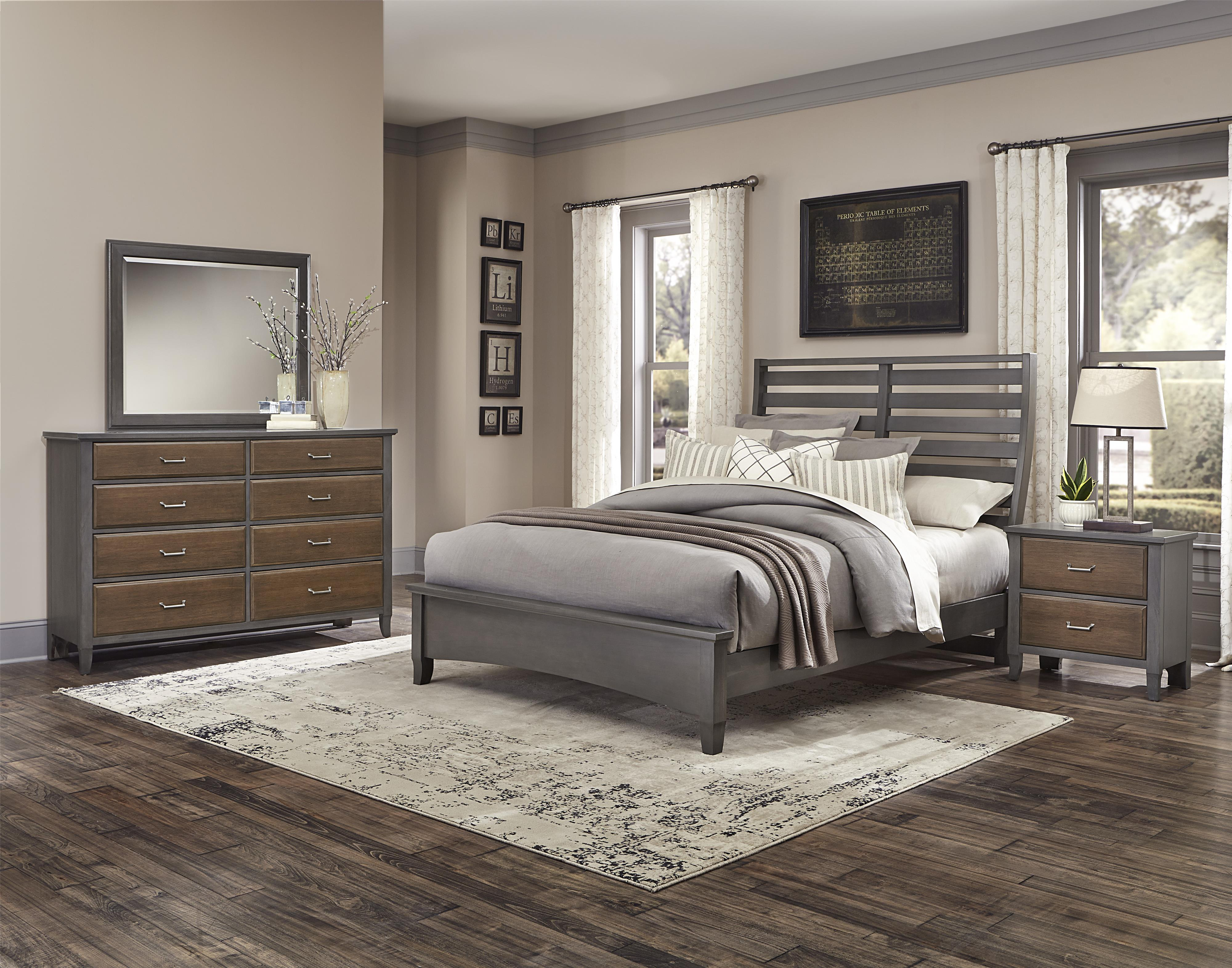 Vaughan Bassett Commentary Queen Bedroom Group - Item Number: 394 Q Bedroom Group 6