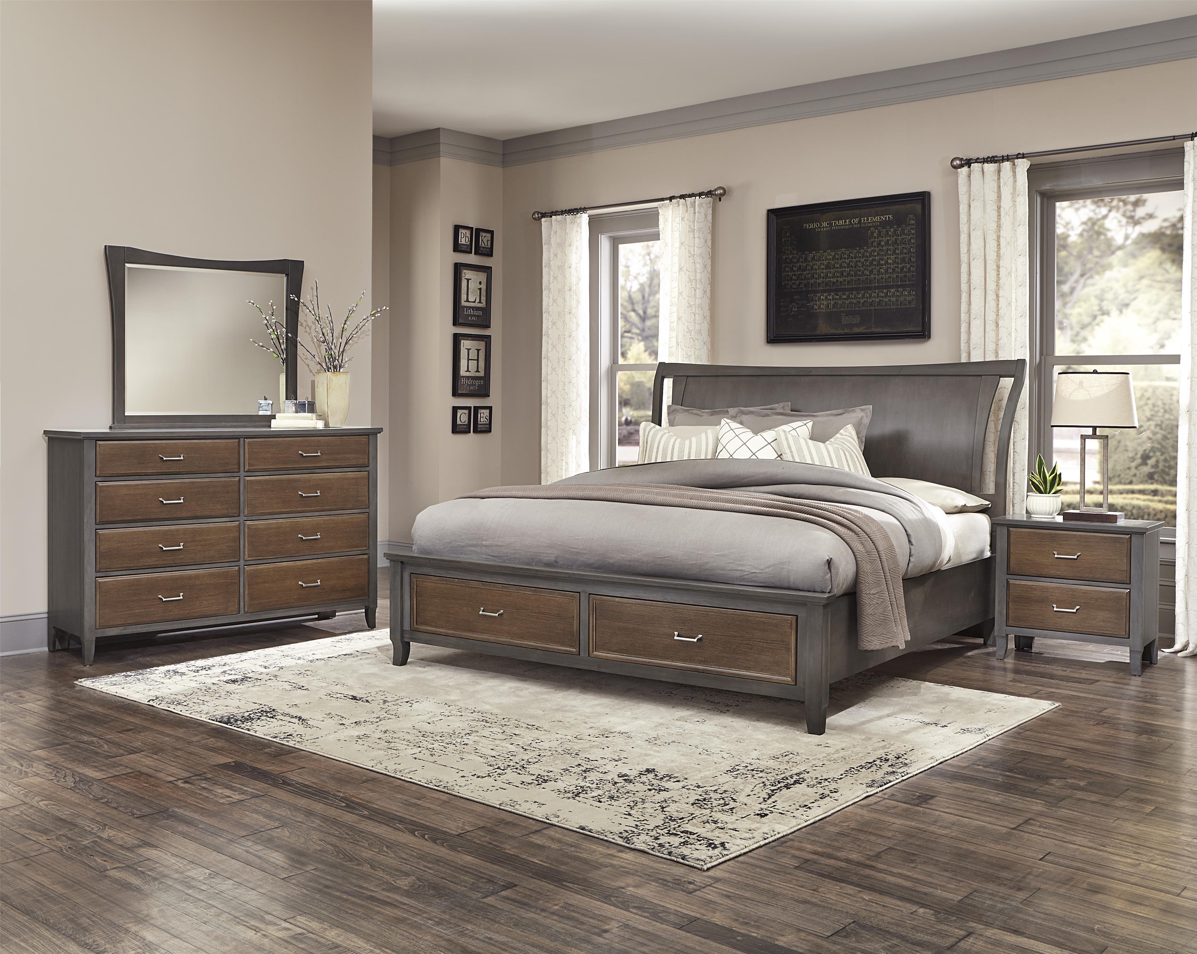 Vaughan Bassett Commentary King Bedroom Group - Item Number: 394 K Bedroom Group 7