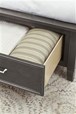 Footboard Storage Option Available