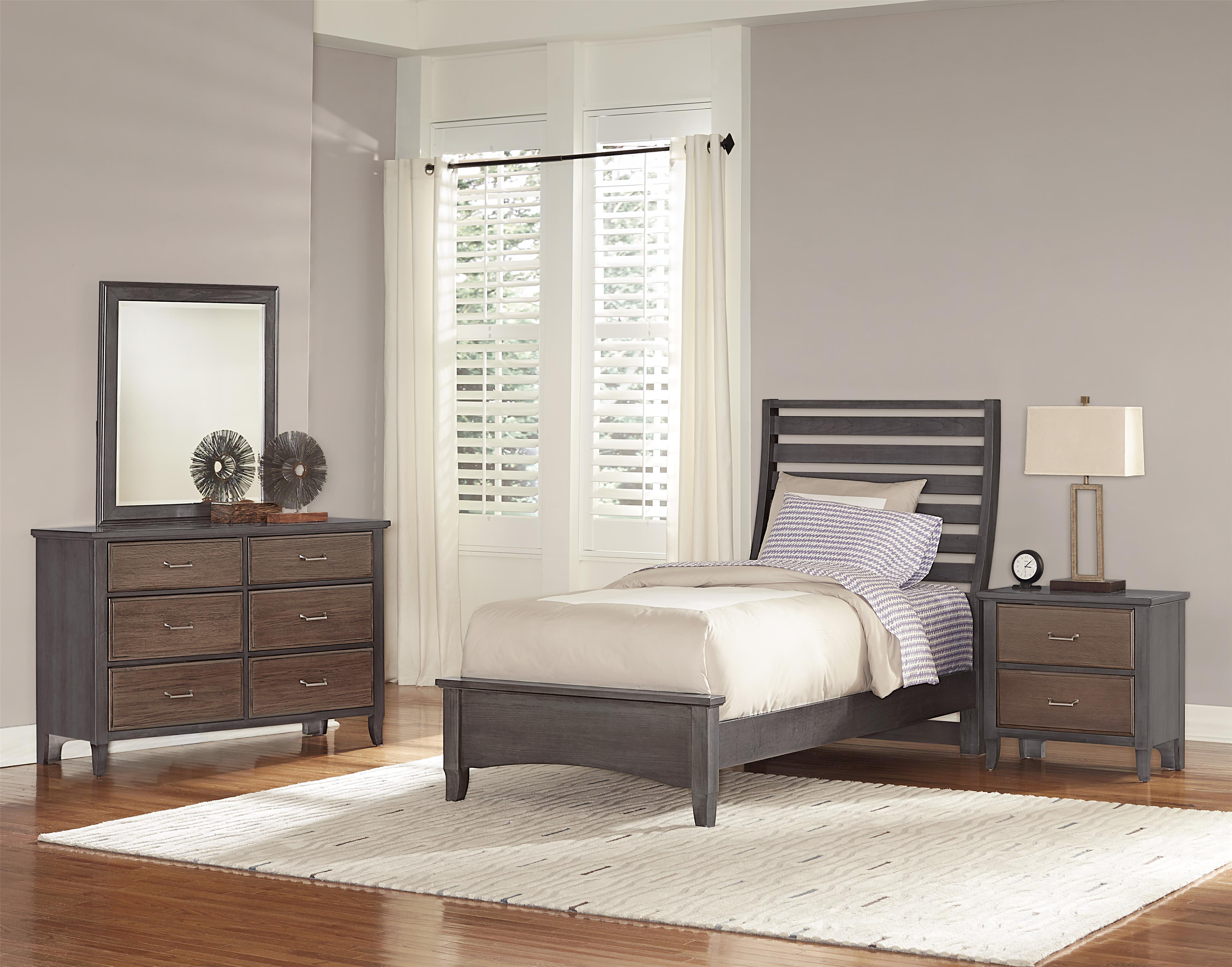 Vaughan Bassett Commentary Twin Bedroom Group - Item Number: 394 T Bedroom Group 3