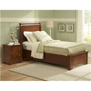 Vaughan Bassett Cottage Twin Panel Bed