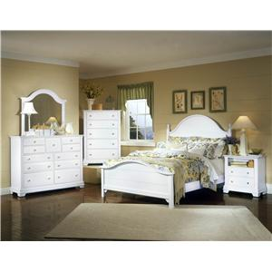 Vaughan Bassett Cottage Queen Panel Storage Bed