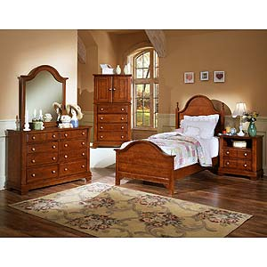Vaughan Bassett Cottage Twin Panel Bed with Trundle