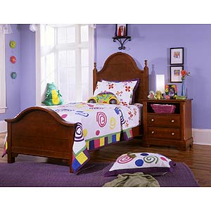 Vaughan Bassett Cottage Twin Slat Poster Bed