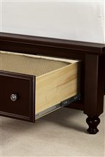 20-inch Deep Footboard Drawers on Storage Bed