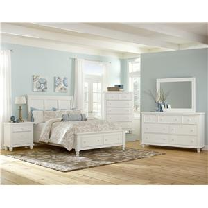 Vaughan Bassett Ellington California King Garden Bed with X-Detail Panel Headboard