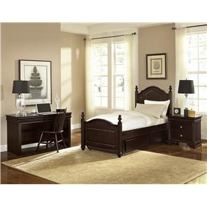 Vaughan Bassett French Market Traditional Twin Poster Bed