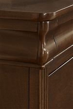 Shaped Louis Philippe Style Molding on Dresser