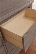 Deep Dresser Drawer with Self-Closing Dual Steel Linear Ball Bearing Glides