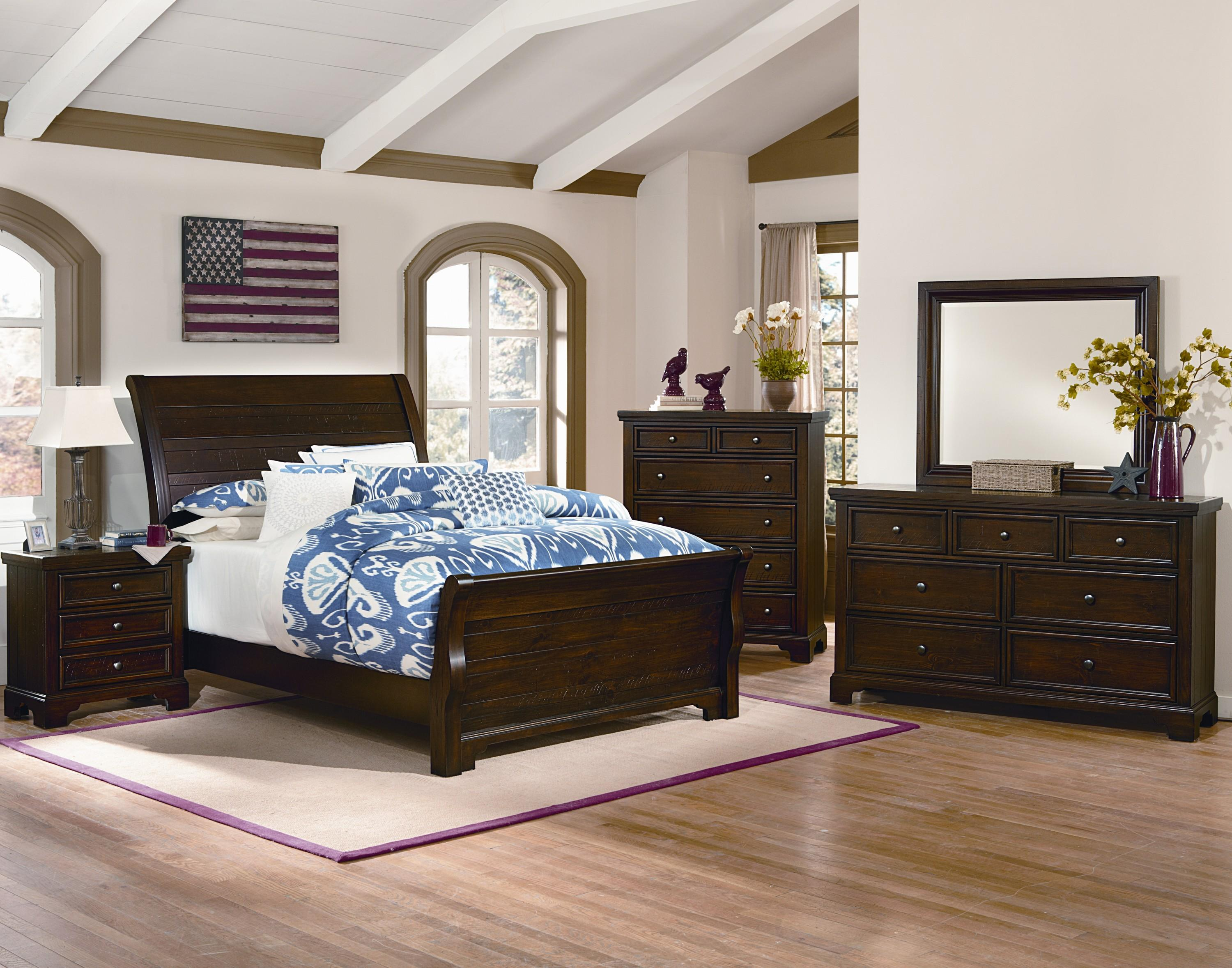 to sheelys whiskey bhf vaughan collections bedroom bassett with group queen barrel furniture