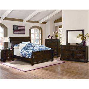 Vaughan Bassett Hanover 9 Drawer Chesser  & Landscape Mirror Set