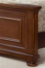 Panel Footboard with Intricate Moulding