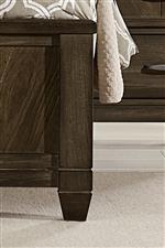 Unique Bedposts on Low Profile Footboard