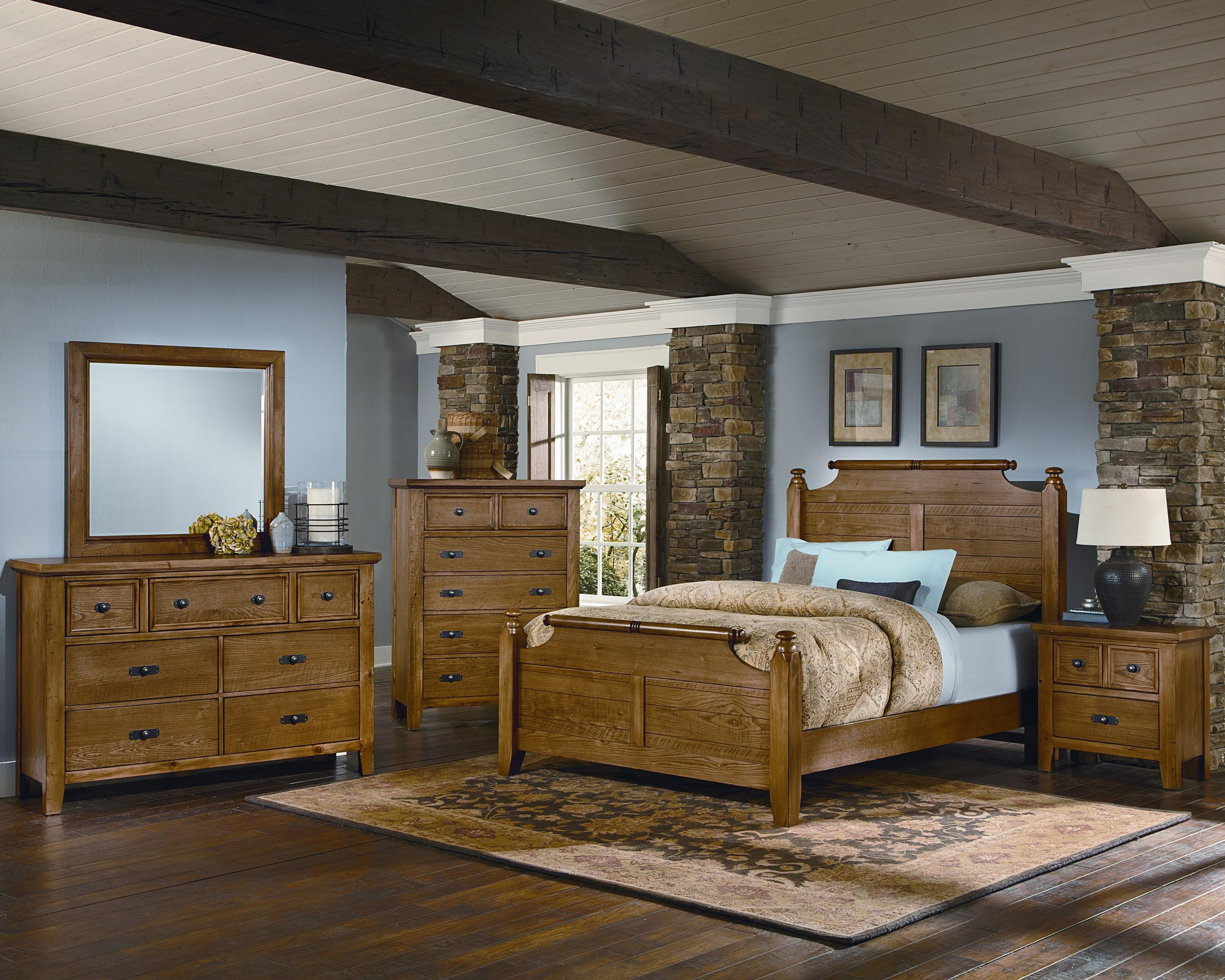 Vaughan Bassett Timber Mill Queen Bedroom Group - Item Number: BB54 Q Bedroom Group 2