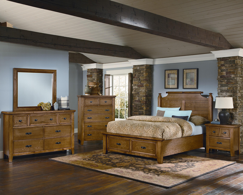 Vaughan Bassett Timber Mill Queen Bedroom Group - Item Number: BB54 Q Bedroom Group 4