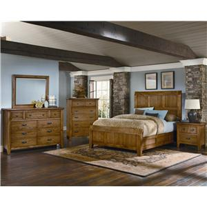 Vaughan Bassett Timber Mill King Broomhandle Poster Bed With Reclaimed Look