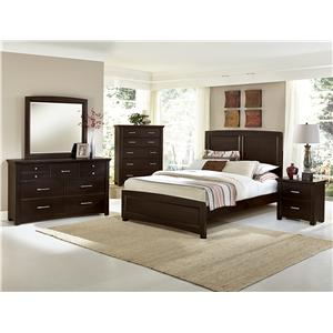 Vaughan Bassett Transitions Queen Panel Bed with 2 Side Storage Units