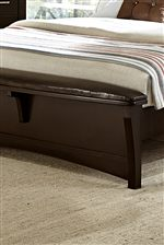 Bench-Style Footboard on Upholstered Bed