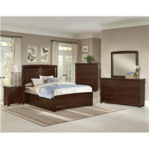 Vaughan Bassett Transitions Twin Panel Bed