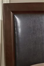 Upholstered Headboard with Chocolate Bonded Leather