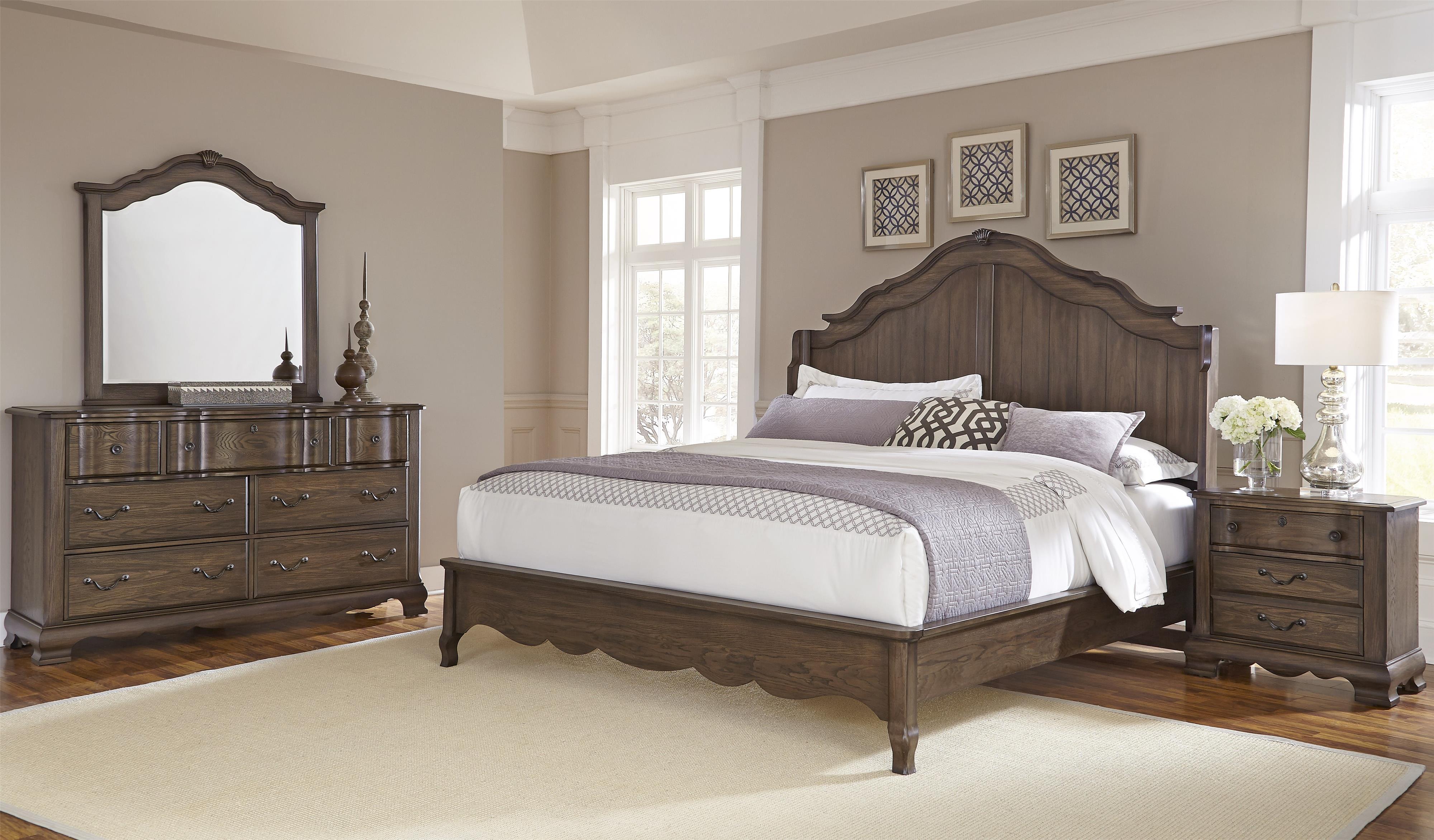 Vaughan Bassett Villa Sophia Queen Bedroom Group - Item Number: 520 Q Bedroom Group 1