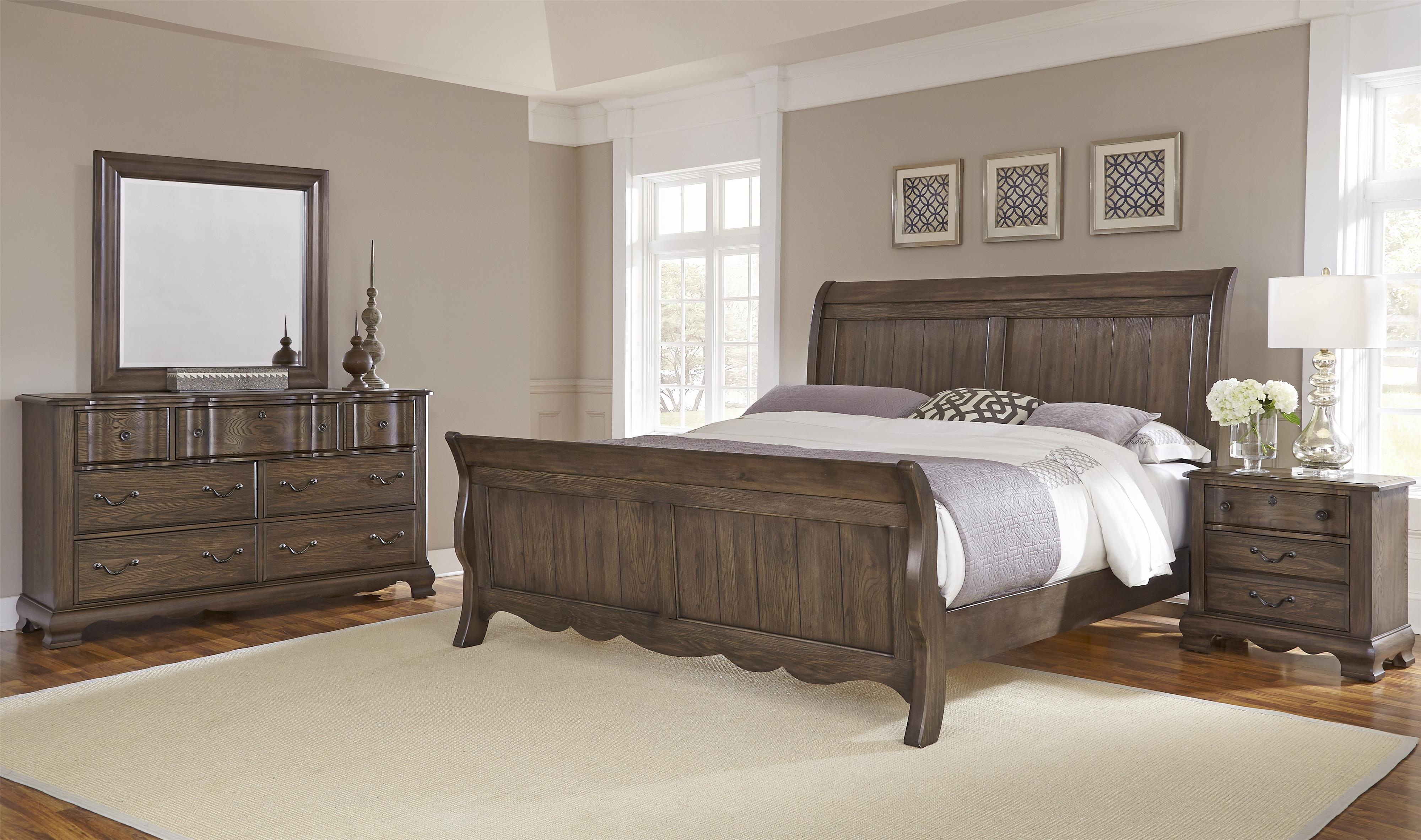 Vaughan Bassett Villa Sophia Queen Bedroom Group - Item Number: 520 Q Bedroom Group 2