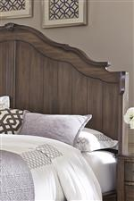 Scalloped Shape Shelter Headboard