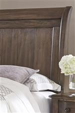 Sleigh Headboard with Plank Look