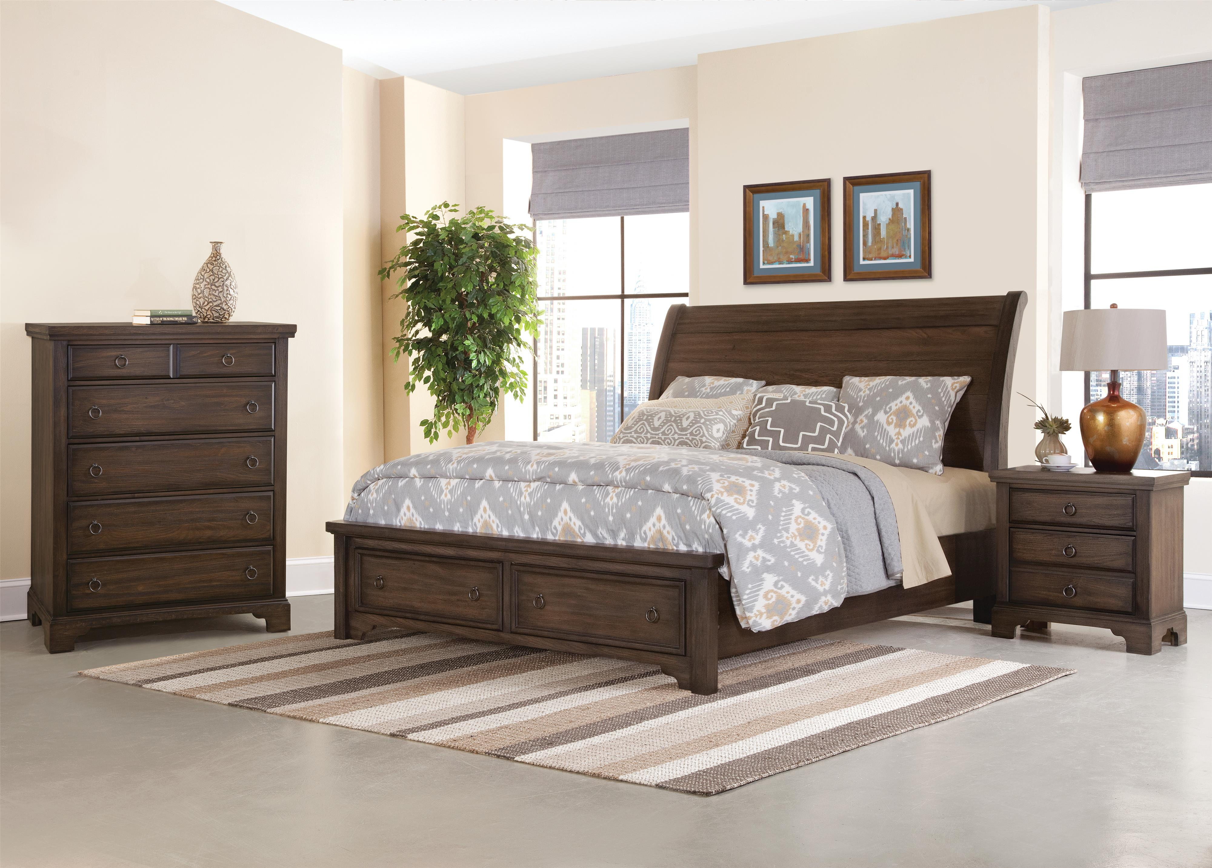 distressed queen sleigh bed with solid wood planks whiskey barrel
