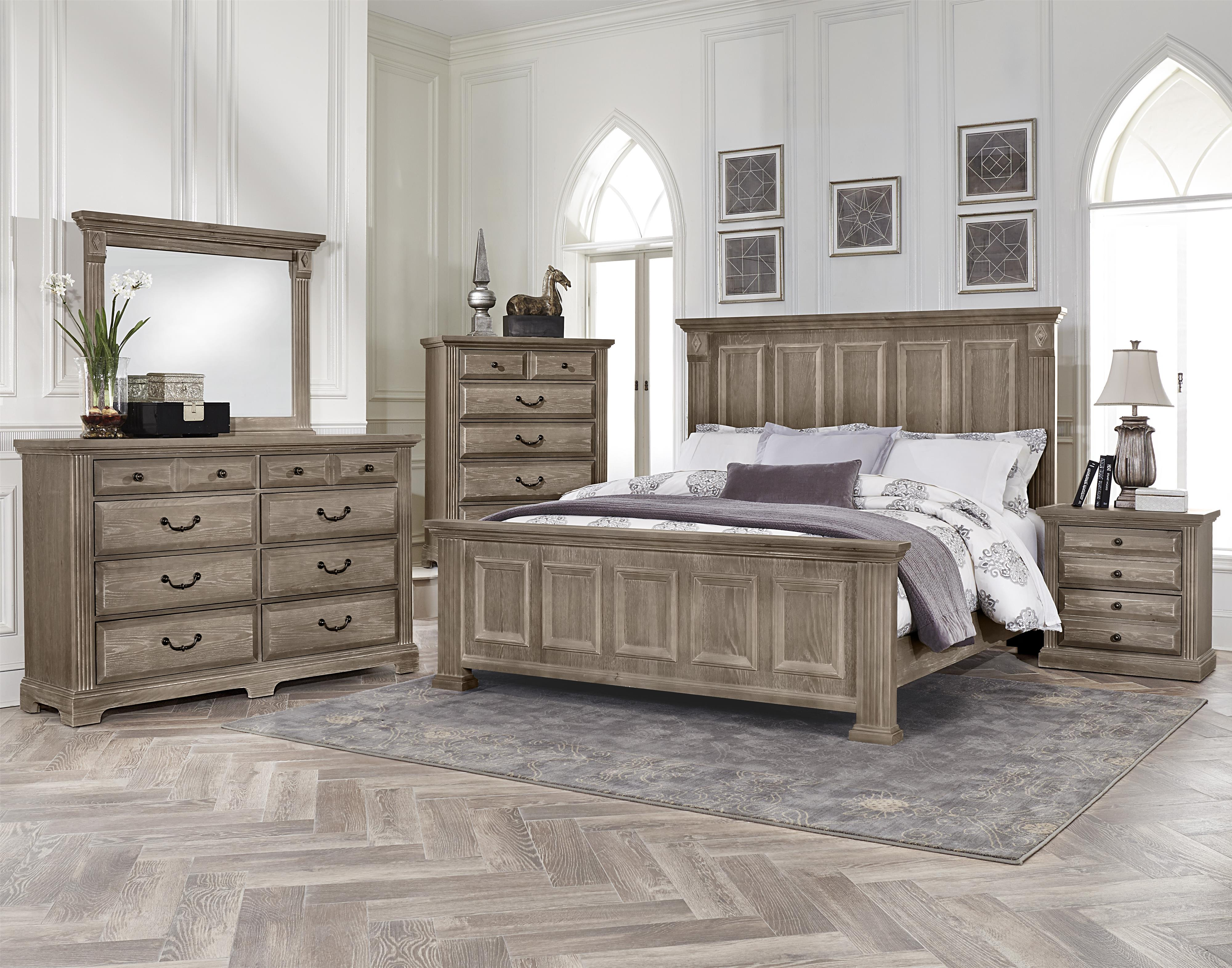 vaughan bassett woodlands king bedroom group belfort 17708 | collections 2fvaughan bassett 2fwoodlands 25422930 bb96 bhf b1