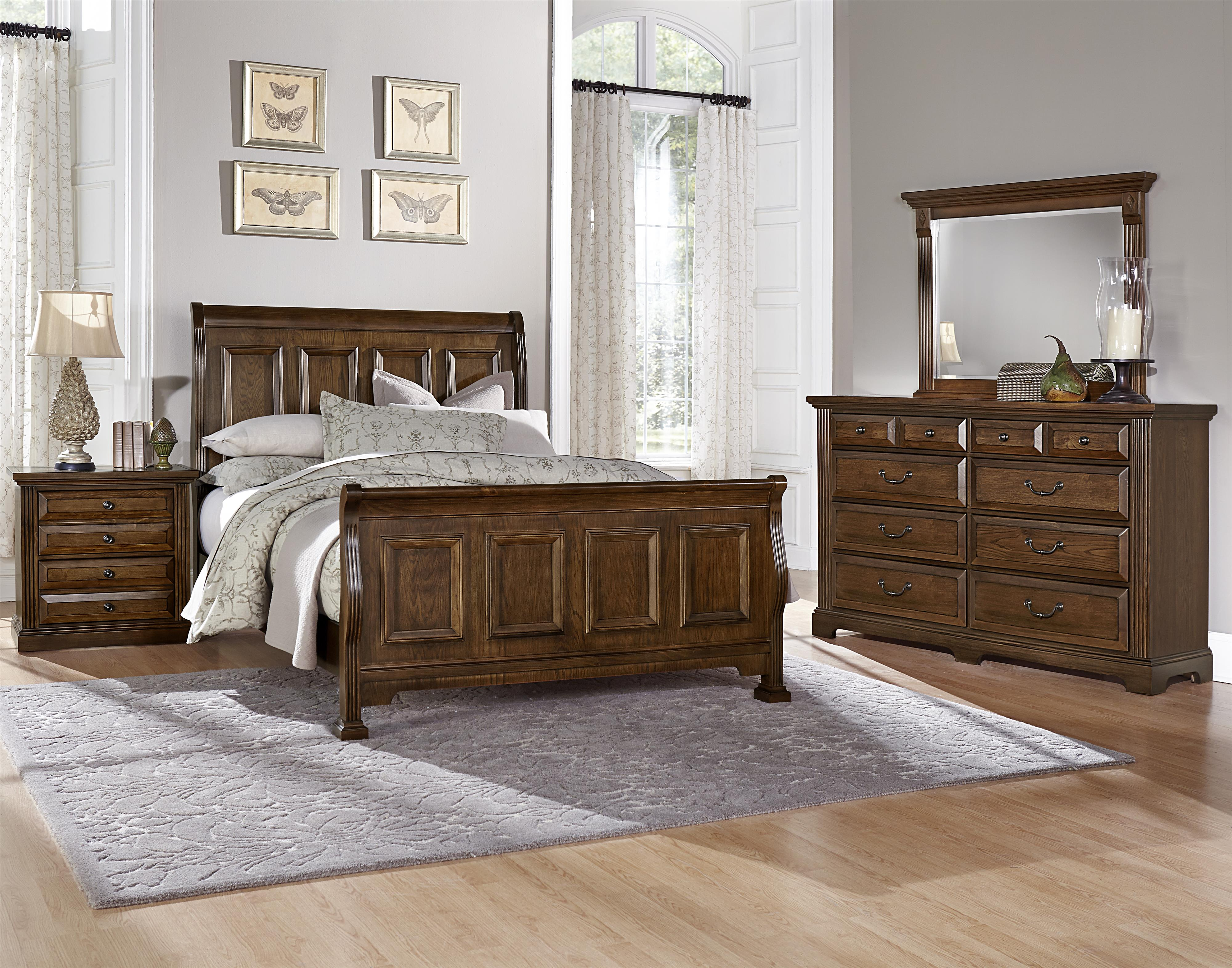 Pleasing Woodlands Queen Bedroom Group By Vaughan Bassett At Turk Furniture Interior Design Ideas Tzicisoteloinfo