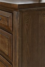 Reeded Molding and Raised Drawer Panels on Storage Pieces