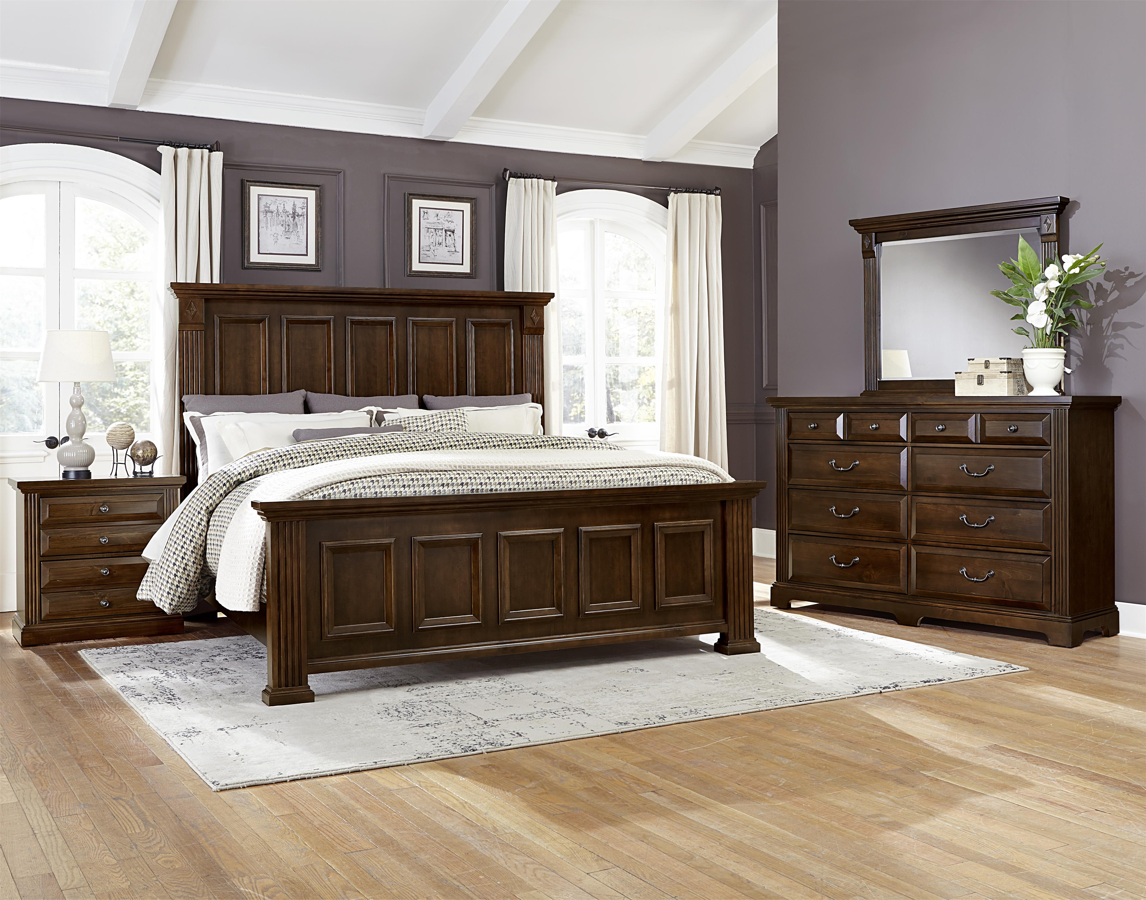 Vaughan Bassett Woodlands Transitional Queen Mansion Storage Bed With 2  Footboard Drawers | Powellu0027s Furniture And Mattress | Platform Beds/Low  Profile Beds