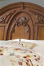 Beautiful Molding Details on Sleigh Headboard