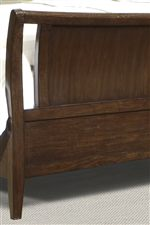 Gentle Arches and Cut-Out on Footboard