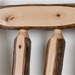 Smooth Sanded Hickory Logs Retain Their Natural, Rustic Beauty
