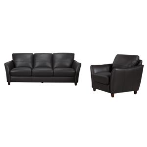Belfort Select Evan Sofa with Tapered Arms and Wood Legs